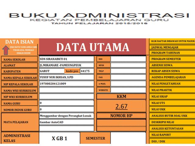 APLIKASI ADMINISTRASI KELAS TAHUN PELAJARAN 2015/2016.xlsm