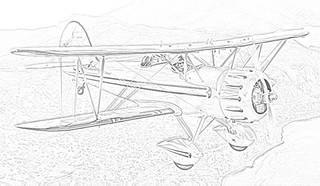 biplanes coloring pages coloring.filminspector.com Waco