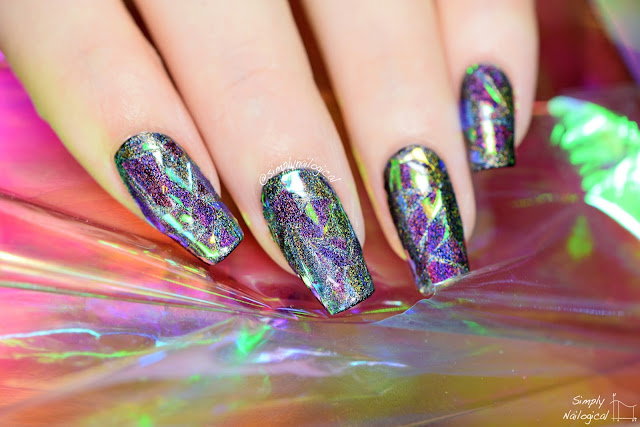 Simply Nailogical Holographic Shattered Glass Nails So