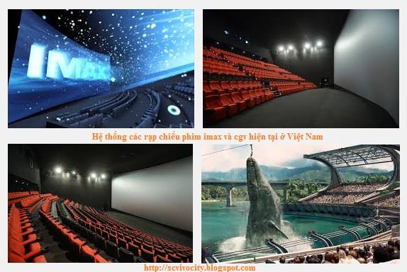 Hệ thống các rạp chiếu phim imax và cgv hiện tại ở Việt Nam