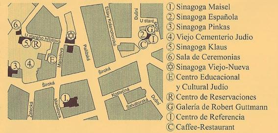 Plano del barrio judio de Praga