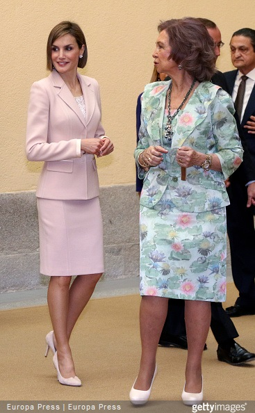 Queen Letizia of Spain and Queen Sofia attend 'Queen Sofia Awards' at El Pardo Palace