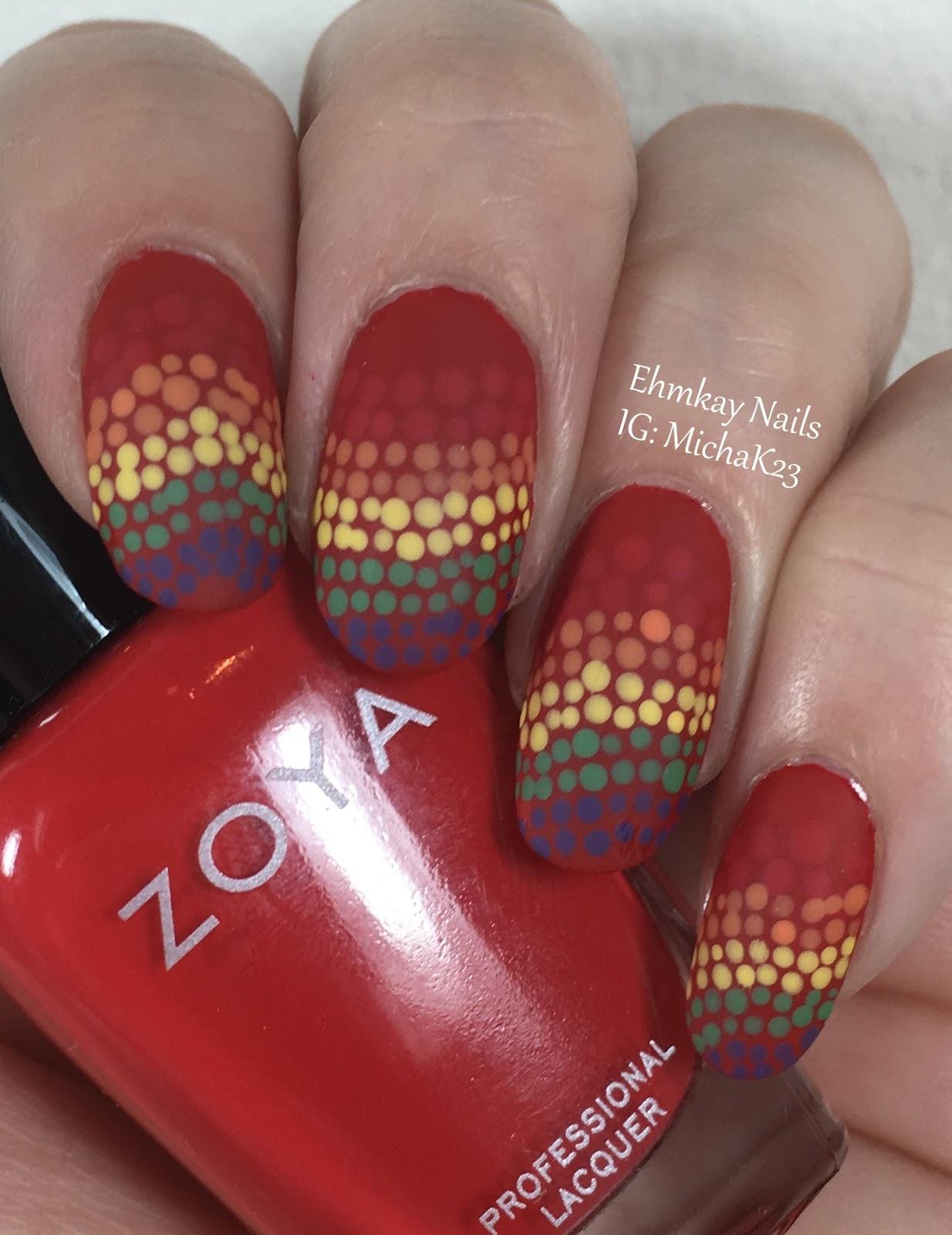 Ehmkay Nails New Year S Eve Nail Art With Kbshimmer Bling: Ehmkay Nails: Taste The Rainbow: Skittles Nail Art