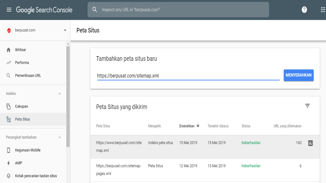 Cara Memasang Sitemap di Google Search Console Terbaru