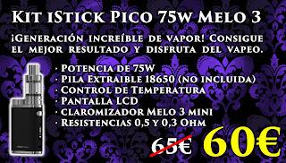 Kit Mod iStick Pico 75W con Melo 3 Mini