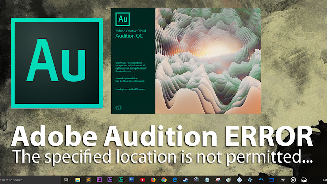 Adobe Audition tidak bisa buat multitrack, error permitted.