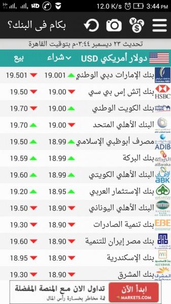 سعر الدولار في جميع بنوك مصر