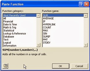 Features of MS Excel - Predefined functions in excel