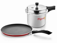 Pigeon Home Starter Kit – Pressure Cooker 3L + Non-Stick Tawa Combo for Rs.759 Only @ Pepperfry