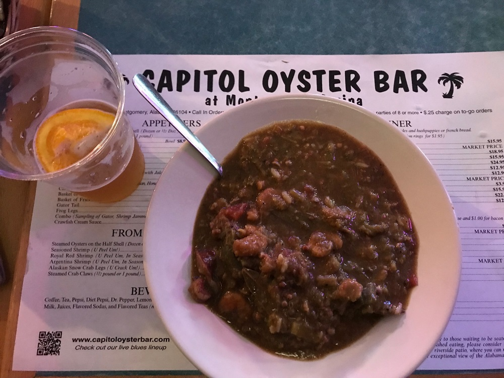 Capitol Oyster Bar Montgomery Alabama, Gumbo