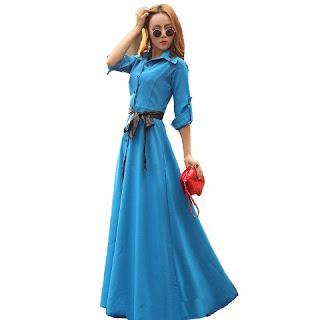 Model Baju Dress Panjang Anak Remaja