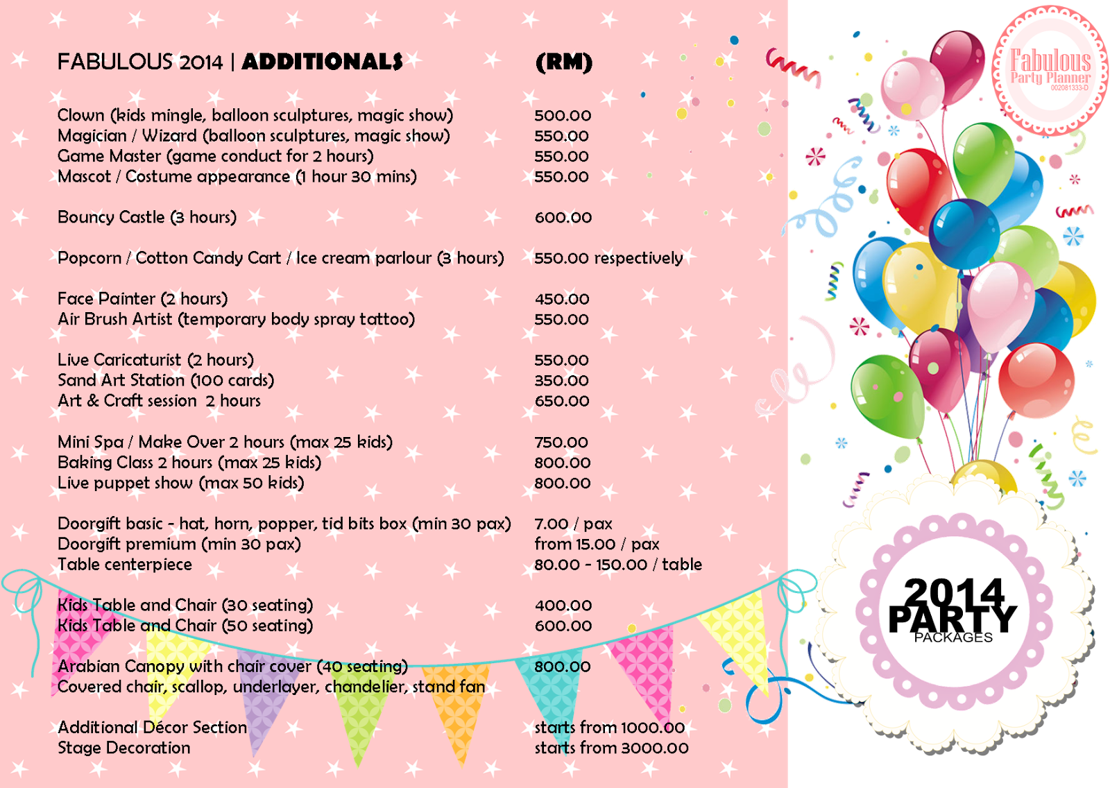 Wedding Event Planning Packages: Event Planner Manager Dinner Family Day Management Kids