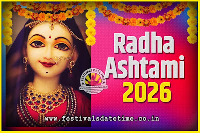 2026 Radha Astami Pooja Date and Time, 2026 Radha Astami Calendar