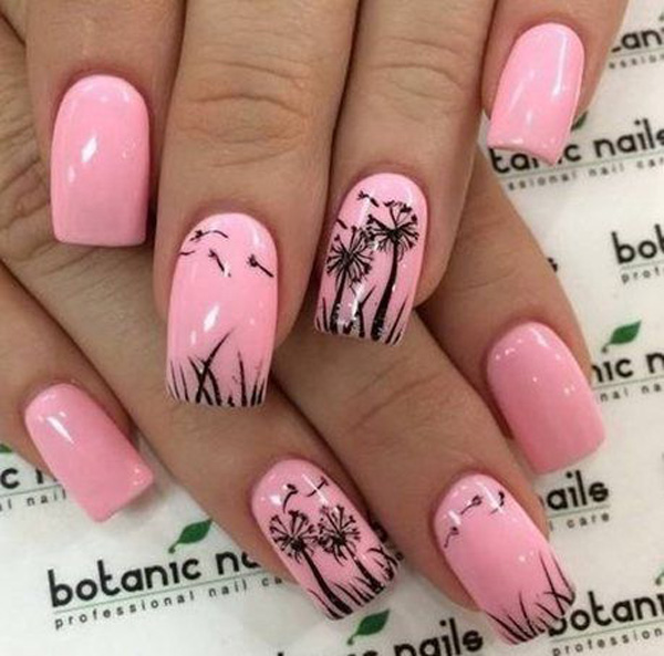 Idea about dandelion nail art 2016 fashion newbys if you are a fan of van gogh you will find this nail art style a bit similar to the artists infamous works using blue green and magenta colors as base prinsesfo Choice Image