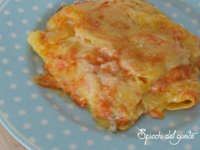 Lasagna con zucca e gorgonzola