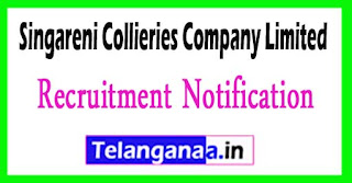 SCCL Singareni Collieries Company Limited Recruitment Notification 2017