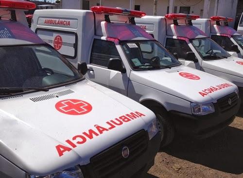 Paraíba deve receber 19 ambulâncias do Ministério da Saúde