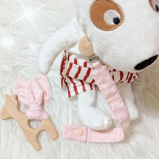 Set per neonati portaciuccio e massaggiagengive