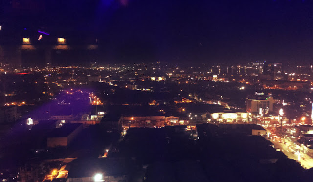 Mandaue City at night from The Industry Bar and Lounge 19th Floor, J Centre Mall, Toyoko Inn Building