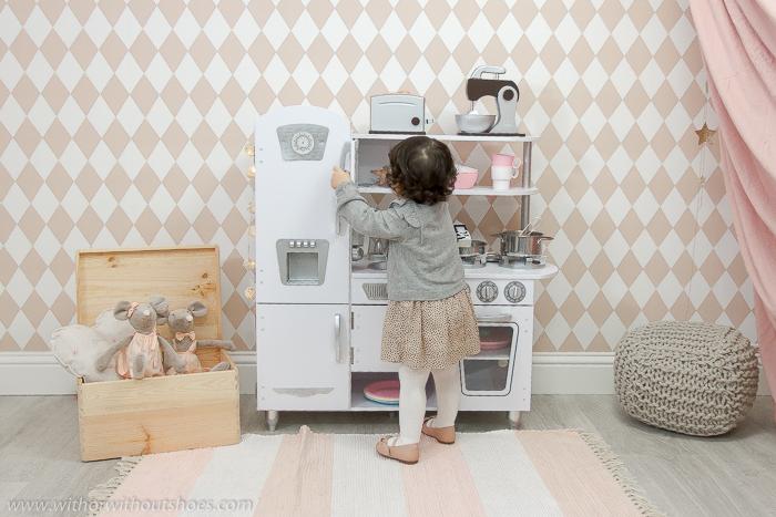opinion consejos donde comprar la mejor Cocina de Juguete Vintage bonita de madera Blanca de Kidkraft
