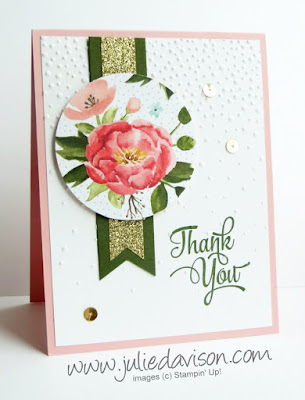 Stampin' Up! Birthday Bouquet One Big Meaning Thank You Card #stampinup www.juliedavison.com