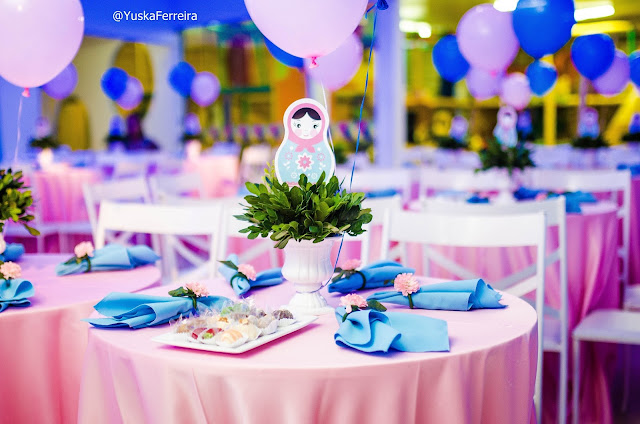 mesa posta festa matrioska