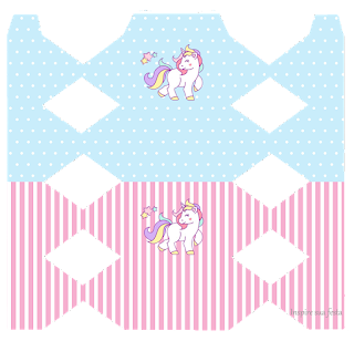 Unicornio: Cajas para Fiestas de Cumpleaños, para Imprimir Gratis.