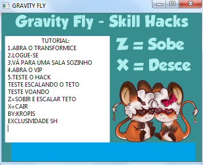 Screenshot 10 Transformice Gravity Fly Skill Hile Botu indir