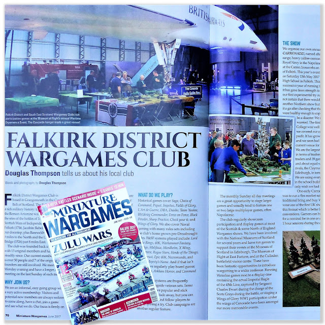 Falkirk District Wargames Club in Miniature Wargames magazine