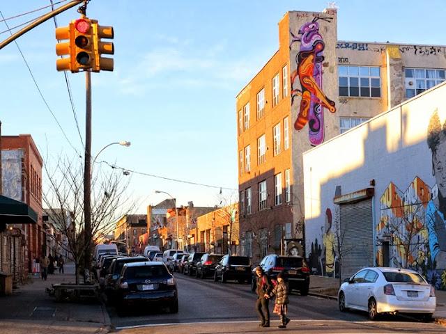 Australian Street Artist Reka Stops By New York City to paint in Bushwick and Queens - November 2013.