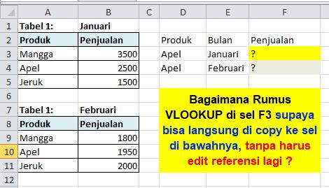 Contoh Soal Excel VLOOKUP Dinamis