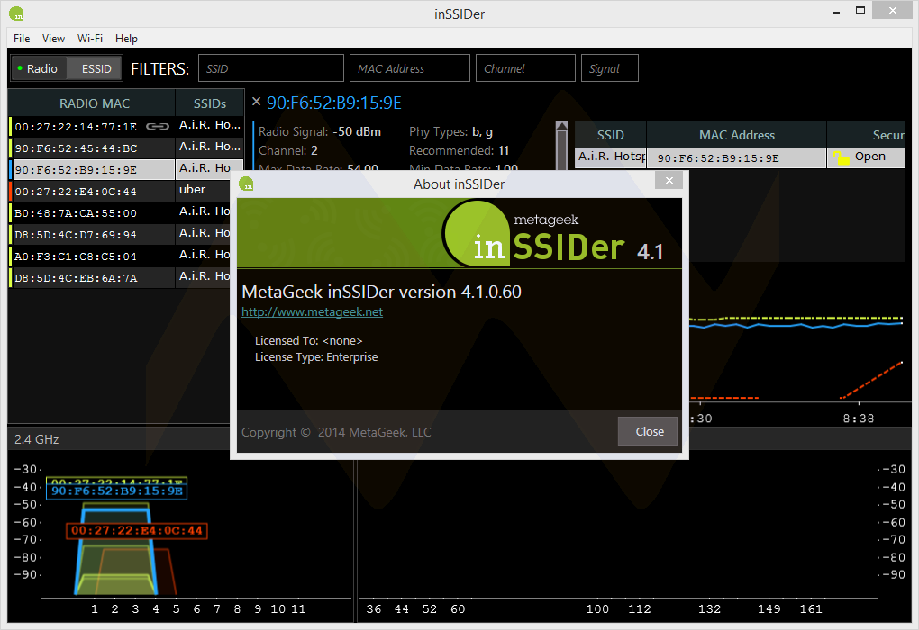 InSSIDer 4.1 Full Crack