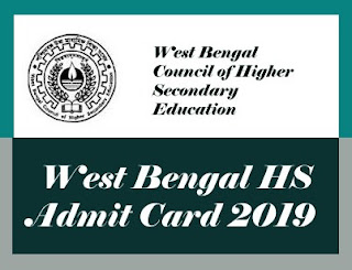 WBCHSE Admit card 2019, West Bengal 12th Admit card 2019, WBCHSE 12th Admit Card 2019, WB 12th Admit card 2019