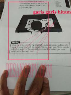 hasil fotocopy ada garis hitam