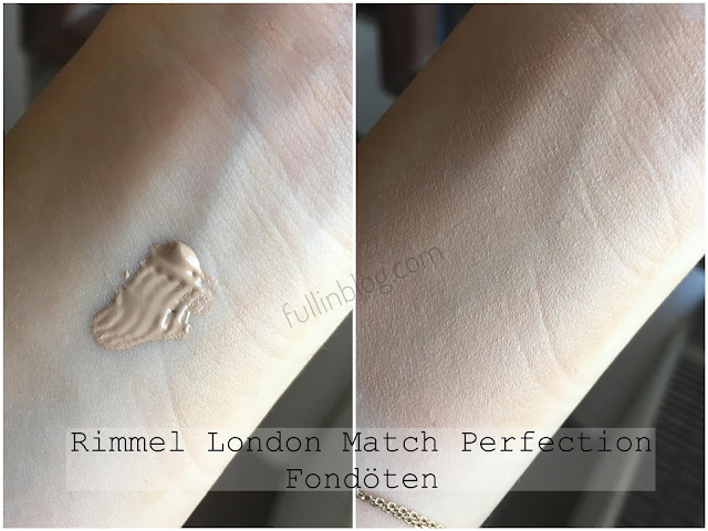 rimmel london match perfection fondöten swatch