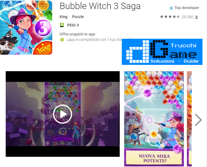 Trucchi Bubble Witch 3 Saga Mod Apk Android v2.0.8