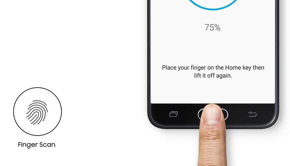 samsung galaxy j5 prime finger scan