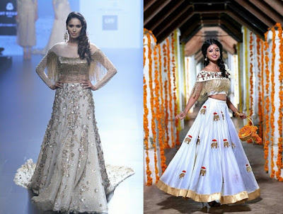 Add fringes to your lehengas, blouse and gowns that will make you look trendy and chic.