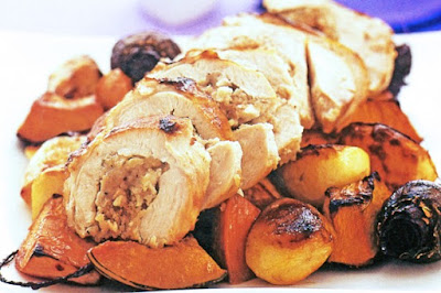 Roast turkey with redcurrant vegetables  meal ideas