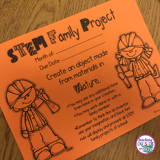 Teaching Outside the Box: When Your Kids BEG for Homework!  STEM Family Projects