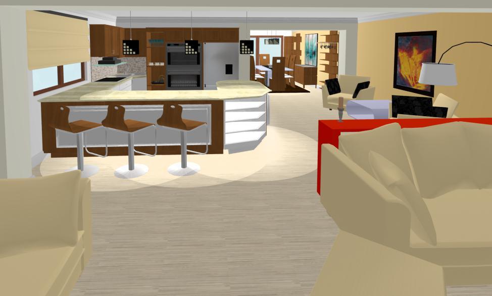 Design Interior Constanta - Design interior living cu bar casa Constanta / Amenajari Interioare