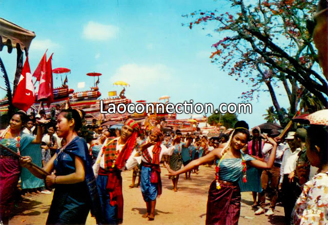 Vintage Photo - Rocket Festival in Laos in 1965