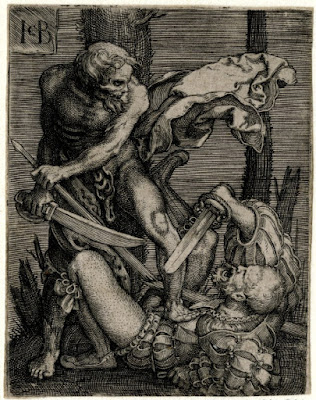 Death killing a soldier (Jacob Binck 1520-1561)