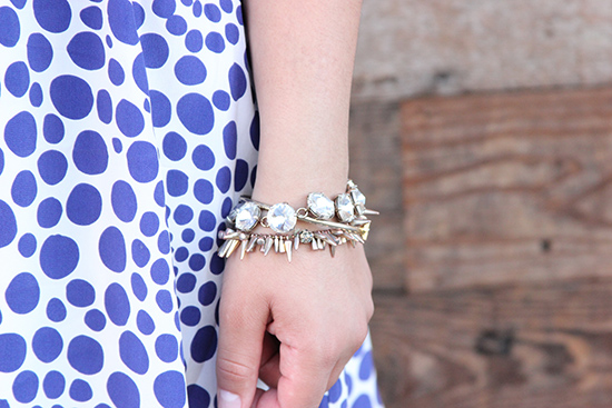 LE TOTE Gold Arm Party Bracelets