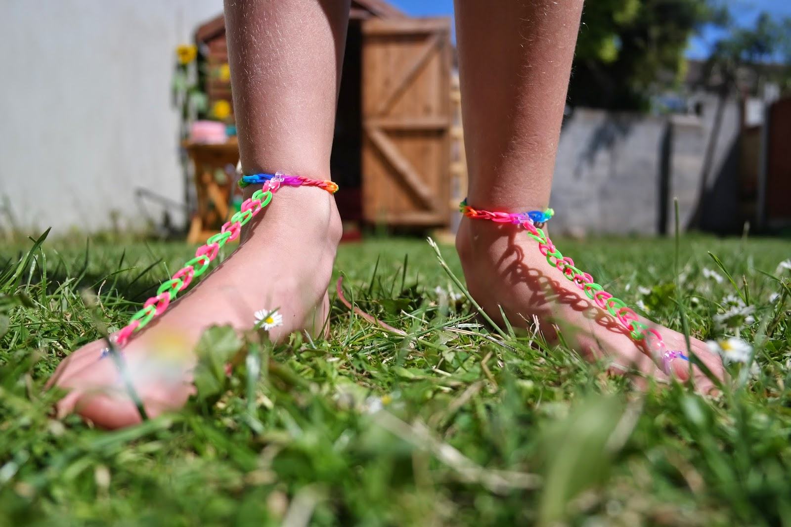 Loom Band Footless Sandals