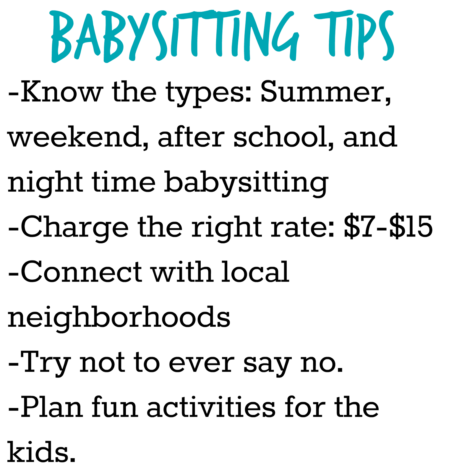 im planning on doing some more babysitting posts featuring some fun things to do while babysitting and how to be successful babysitting is a really great