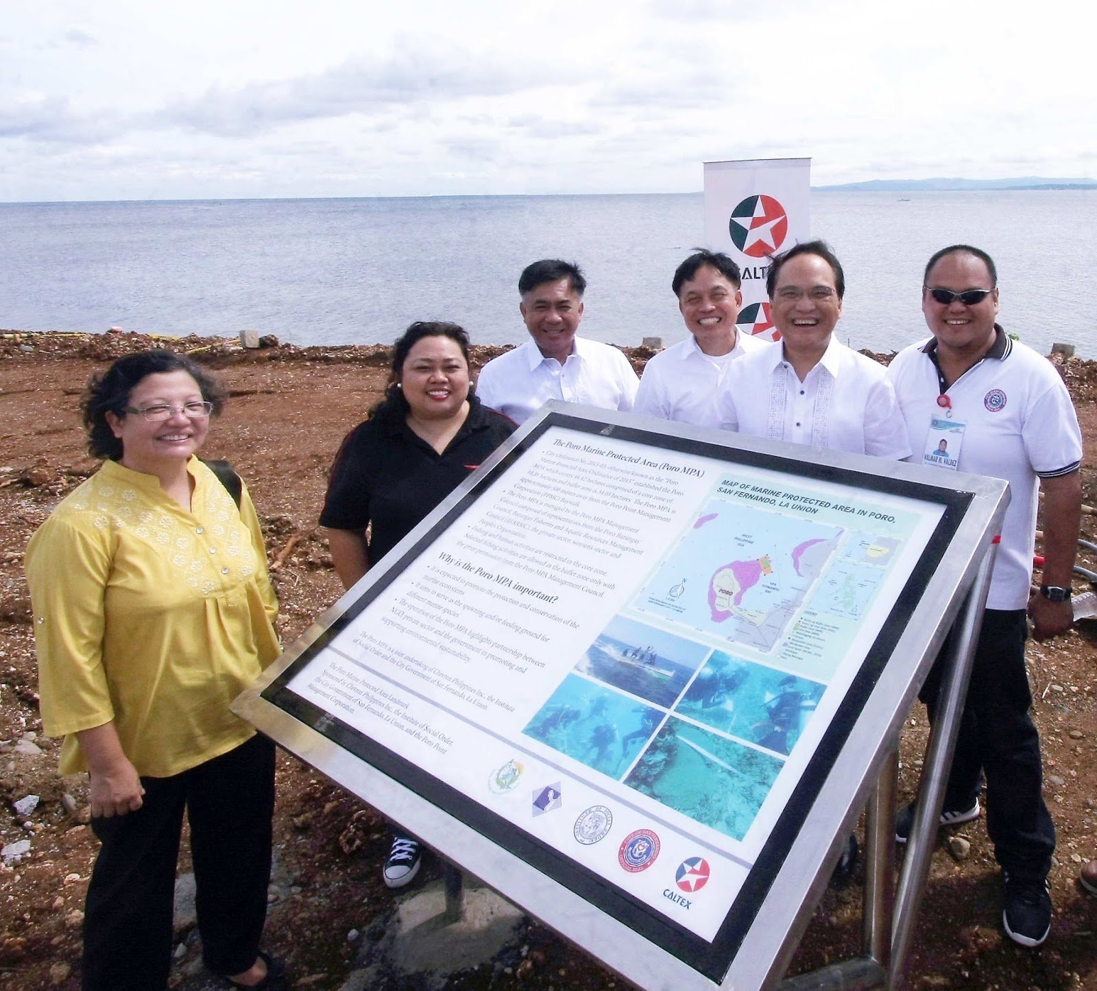 Caltex Poro Marine Protected Area marker unveiled