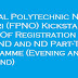 Federal Polytechnic Nekede Owerri (FPNO) Kickstart Sales Of Registration Form For HND and ND Part-Time Programme (Evening and Weekend)