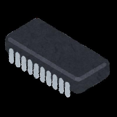 横長の集積回路のイラスト
