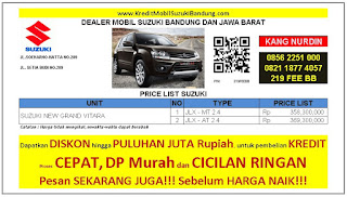 Suzuki Grand Vitara Bandung 2016, Harga Suzuki Grand Vitara 2016, Kredit Suzuki Grand Vitara 2016